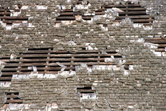 Wood shake shingle roof falling appart Royalty Free Stock Images