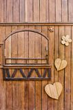 Wood shape, heart shape, flower shape Stock Images