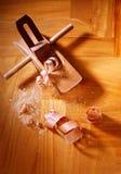 Wood shavings Royaltyfri Bild