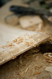 Wood shavings Stock Images