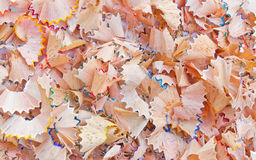 Wood shavings. Shavings in various colors a lot royalty free stock image
