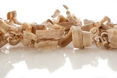 Wood shavings Arkivbilder