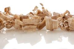 Wood shavings arkivbilder