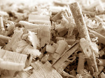 Wood Shavings 3 v2. Close-up of wood shavings of various shapes Royalty Free Stock Photography