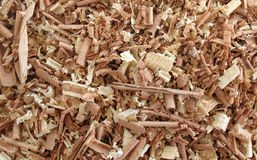 Wood Shavings 5. Background of wood shavings of various shapes Royalty Free Stock Photo