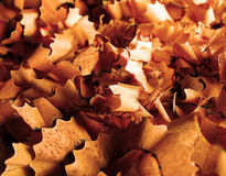 Wood shavings. Colored pencil shavings closeup. Great as a desktop background abstract Royalty Free Stock Photo