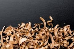 Wood shavings background stock photography