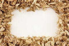 Wood Shavings Frame Stock Image