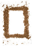 Wood shavings Frame. On white background Royalty Free Stock Photography