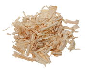 Wood shavings isolated on white Stock Image