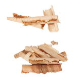 Wood shavings isolated on white Stock Photography