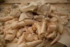 Wood shavings Royalty Free Stock Photography