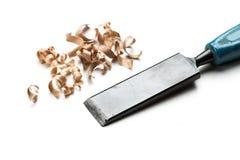 Wood shavings Stock Image
