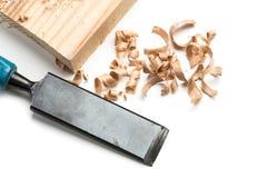 Wood shavings. Wood shaving isolated on white background royalty free stock image