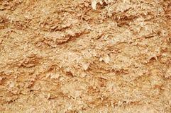 Wood shavings som en bakgrund Royaltyfria Foton