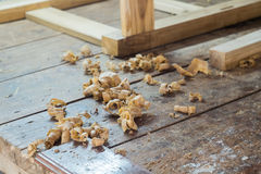 Wood shavings Stock Photography