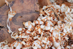 Wood shavings of thuya in Essaouira Royalty Free Stock Images