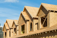 Wood Sheathing on Dormers Royalty Free Stock Photography