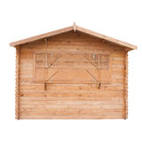 Wood shed Stock Image