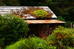 Wood shed. A wood shed is stocked for the long winter months Royalty Free Stock Photo