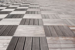 Wood sheets pavement Royalty Free Stock Photos