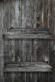 Wood Shelf 2 floor. On Wood Wall royalty free stock image