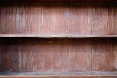 Wood shelf. Close up Empty wood shelf royalty free stock image