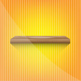 Wood shelf on abstract yellow background Stock Photo