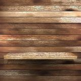 Wood shelf for exhibit. EPS 10. This is editable vector illustration Stock Photos