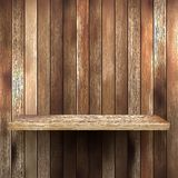 Wood shelf for exhibit. EPS 10 Stock Photography