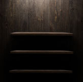 Wood shelf, grunge industrial interior Stock Photography