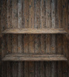 Wood shelf, grunge industrial interior. See my other works in portfolio royalty free stock images