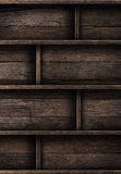 Wood shelf. Grunge industrial interior Uneven diffuse lighting version. Design component stock photography