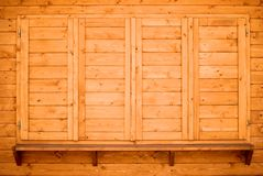Wood shelf and shutters Royalty Free Stock Photo