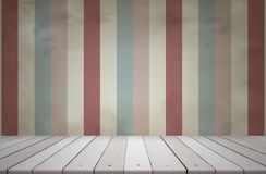 Wooden shelves isolated. Wood shelf on vintage background for product display montage royalty free stock images