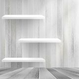 Wood shelf on wood background. + EPS10 Royalty Free Stock Photo