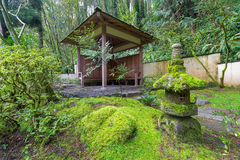 Wood Shelter at Japanese Garden Stock Photography