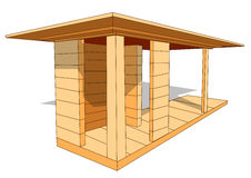 Wood shelter Royalty Free Stock Images