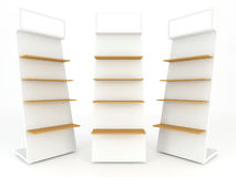 Wood shelve. Design on white background, 3d illustration Royalty Free Stock Photos