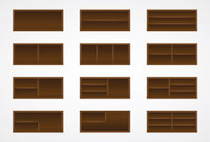 Wood shelves Stock Photos