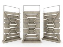 Shelf cabinet design with wood backing vector illustration