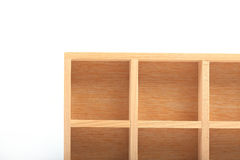 Wood shelves isolated Stock Photos