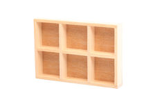 Wood shelves isolated Royalty Free Stock Image