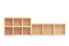 Wood shelves isolated Stock Photo