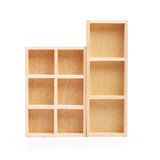Wood shelves isolated Royalty Free Stock Photos
