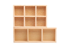 Wood shelves isolated Stock Images