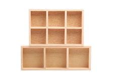 Wood shelves isolated Royalty Free Stock Photography