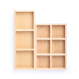 Wood shelves isolated Royalty Free Stock Photo