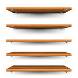 Wood shelves set Royalty Free Stock Image
