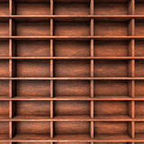 Wood shelves slots Stock Photography